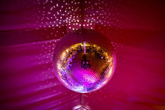 Disco ball with sining light Stock Image