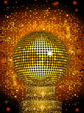 Disco ball on sparkling stand background Royalty Free Stock Photography