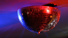 Disco Ball Spinning seamless with flares stock video
