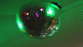 Disco Ball Spinning seamless with flares stock footage