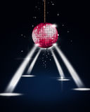 Disco Ball with Spotlights. Abstract music disco ball with stage spotlights Royalty Free Stock Image