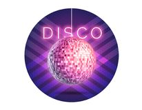 Disco ball square Royalty Free Stock Image