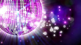 Disco Ball- und bokehlichter lizenzfreie abbildung