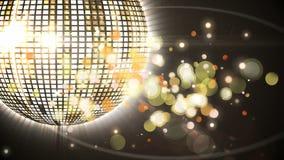 Disco Ball- und bokehlichter stock abbildung