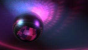 Disco-Ball und Lichter der Animation an des Club-3D vektor abbildung