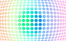 Disco ball. Vector illustration. Abstract background. Disco ball. Circles of different colors on a convex surface. Different colors Stock Illustration