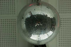 Disco ball. On the wall Stock Photo