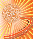 Disco ball with waves Stock Photo