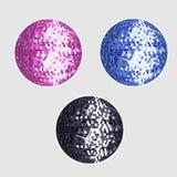 Disco balls. Shiny disco balls illustration vector Royalty Free Stock Photos