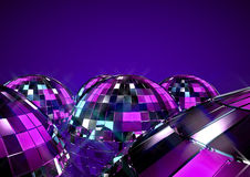 Disco balls. 3D render of disco balls background Royalty Free Stock Photography
