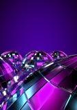 Disco balls. 3D render of disco balls background Stock Photos