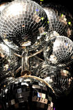 Disco Balls. Background of multiple disco balls royalty free stock images