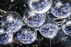 Disco balls on the ceiling Royalty Free Stock Image