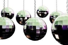 Disco balls. 3d illustration of disco balls  on white background Royalty Free Stock Photo