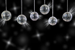 Disco balls with silver shining Royalty Free Stock Photography