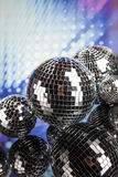 Disco Balls, sound waves and Music background Royalty Free Stock Images