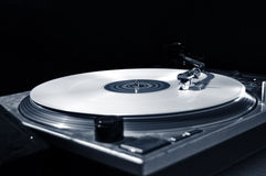 Disco bianco Fotografia Stock