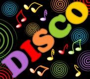 Disco billboard with colorful swirlsDisco billboard with colorful swirls Stock Photography