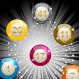 Disco bingo balls Stock Images