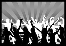 Disco - Black and White Royalty Free Stock Photography