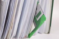 Disco blando en un archivo Imagen de archivo libre de regalías