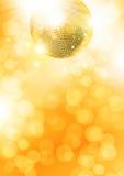 Disco-bola del oro Imágenes de archivo libres de regalías