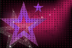 Disco Bright Background With Stars. Vector Stock Photos