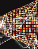 Disco brown mosaic twist Stock Image