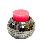 Disco candle Royalty Free Stock Image