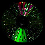 Disco CD con descensos del agua fotos de archivo