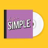 Disco CD de la música con vector del ejemplo del icono de la cubierta ilustración del vector