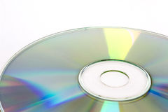 Disco CD no fundo branco Fotos de Stock