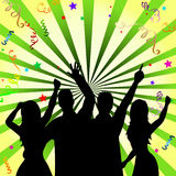 Disco Celebrate Represents Dancing Fun And Dancer Royalty Free Stock Photography