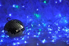 Disco christmas background Stock Photo