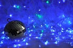 Disco christmas background Stock Photo