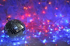 Disco christmas background Royalty Free Stock Photo