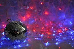 Disco christmas background Stock Photography