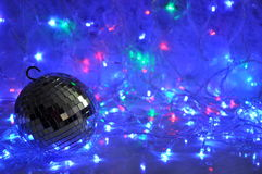 Disco christmas background Royalty Free Stock Image