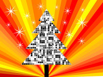 Disco christmas tree Stock Photos