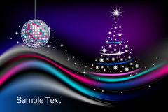 Disco Christmas tree Royalty Free Stock Images
