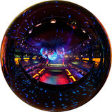 Disco club. Circular fisheye panorama of disco club Royalty Free Stock Image