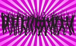 Disco club. Illustration of disco club, pink Royalty Free Stock Photo