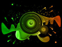 Disco club flayer with colorful elements. Stock Photography