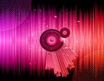 Disco club flayer. Disco club flayer with colorful elements. Ideal for poster and music background royalty free illustration