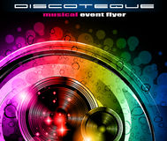 Disco club flyer Royalty Free Stock Photo