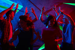 Disco in club Stock Images