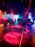 Disco club. Laser and light in disco club Royalty Free Stock Photo