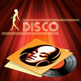 Disco club poster design Royalty Free Stock Images