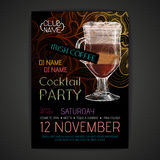 Disco cocktail party poster Stock Photography
