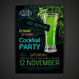 Disco cocktail party poster Royalty Free Stock Image